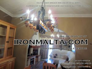 malta wrought iron metal wood chandeliers lights ideally for house of characters,  farmhouses and town houses 4 traditional